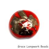11819502 - Electric Orange Metallic Lentil Focal Bead