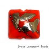 11819504 - Electric Orange Metallic Pillow Focal Bead