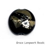 11819602 - Elegant Black Metallic Lentil Focal Bead
