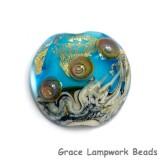 11819802 - Aqua Treasure Lentil Focal Bead