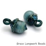 11820319 - Liquid Blue Acorn Earring Set