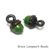 11821519 - Green Grass Acorn Earring Set