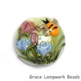 11830102 - Bumble Bee Garden Lentil Focal Bead