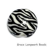11830802 - Zebra Stripes Lentil Focal Bead