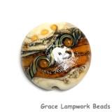 11831402 - Butterscotch Stardust Lentil Focal Bead
