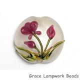 11832002 - Fuchsia Flower Lentil Focal Bead