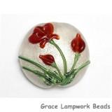 11832102 - Crimson Flower Lentil Focal Bead