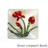 11832104 - Crimson Flower Pillow Focal Bead