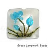 11832404 - Maya Blue Flower Pillow Focal Bead