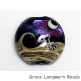 11832902 - Amethyst Jewel Celestial Lentil Focal Bead