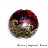 11833602 - Hot Lava Waves Lentil Focal Bead