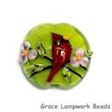 11834402 - Spring Red Cardinal Lentil Focal Bead