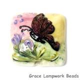 11834804 - Pink Sparkle Garden Butterfly Pillow Focal Bead