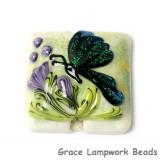 11834904 - Green Sparkle Garden Butterfly Pillow Focal Bead