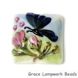 11835004 - Blue Sparkle Garden Butterfly Pillow Focal Bead