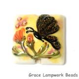 11835104 - Yellow Sparkle Garden Butterfly Pillow Focal Bead