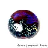 11836102 - Violet Shimmer Lentil Focal Bead