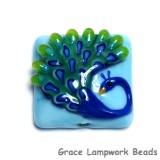 11837104 -Blue Peacock Pillow Focal Bead