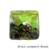 11837304 - Spring Green Shimmer Pillow Focal Bead