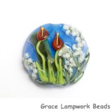 11837802 - Red Calla Lily Lake Lentil Focal Bead
