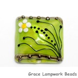 11838504 - Spring Green Florals Pillow Focal Bead