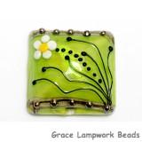 11838504 - Spring Green Florals Pillow Focal Bead