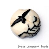 11840602 - Flying Raven Lentil Focal Bead