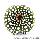 Green Sea Urchin Lentil Focal Bead