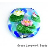 Water Lily Pond Lentil Focal Bead