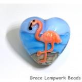 Flamingo Plump Heart Focal Bead