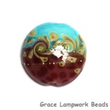 LimitedSO - Limited Quantity Turquoise & Amethyst w/Beige Lentil Focal Bead