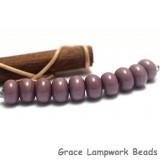 SP011 - Ten Opaque Light Plum Spacer Beads