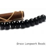 SP012 - Ten Opaque Black Spacer Beads