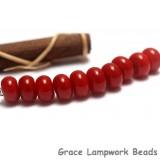 SP013 - Ten Opaque Red Spacer Beads