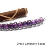 SP014 - Ten Amethyst Dichroic Spacer Beads