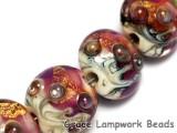 grace lampwork beads artisan handmade glass beads SRA