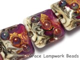 10108914 - Four Cranberry Treasure Pillow Beads