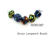 10201207 - Five Black Based Fiesta Crystal Beads