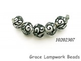10202307 - Five Black & White  Crystal Beads
