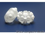 10204001 - Seven Matte Finish White Rondelle Beads