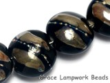 10204112 - Four Elegant Black Metallic Lentil Beads