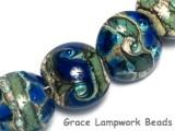 10406502 - Seven Deep Ocean Blue w/Silver Foil Lentil Beads
