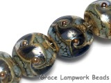 10406612 - Four Gray Blue w/Silver Foil Lentil Beads
