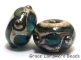 10406701 - Seven Ocean Blue w/Silver Foil Rondelle Beads