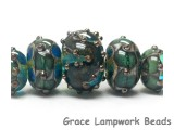 10406711 - Five Graduated Ocean Blue w/Silver Foil Beads