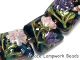 10407404 - Seven Pink & Purple Floral Pillow Beads