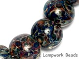 10408212 - Four Blues Free Style Boro Lentil Beads