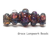 10408411 - Five Graduated Multi-Colored Rondelle Beads