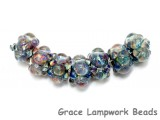 10408901 - Seven Purple & Blue Rondelle Beads