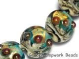 10409902 - Seven Aqua Treasure Lentil Beads